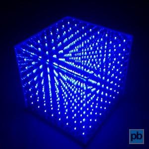 Blue LED cube