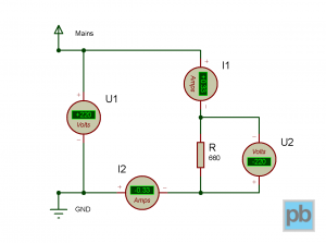 Circuit with a resistor